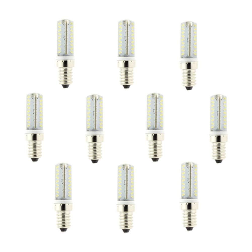 NANGE G4 / G9 / E12 LED Bulb, 6W 72 X 3014 SMDs AC 100V-140V 480Lumen Dimmable Bulb,30W Equivalent Light Lamp[Energy Class A+] 10Pcs (Color : Warm White, Size : E12) by NANGE