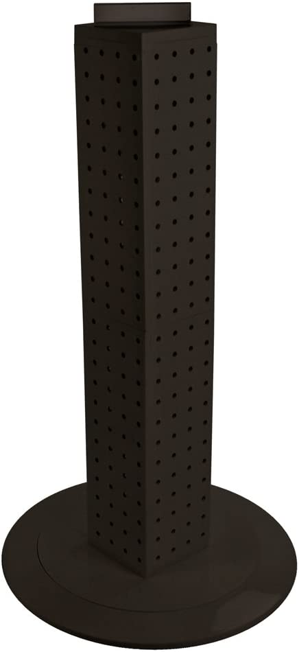 Purple Translucent Color Azar 700222-PUR Pegboard 4-Sided Revolving Counter Display