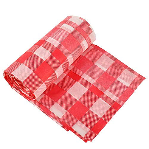 Red Checkered Tablecloth,10 Pack Plastic Table ...