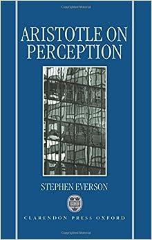 Book Aristotle on Perception (Clarendon Aristotle Series)