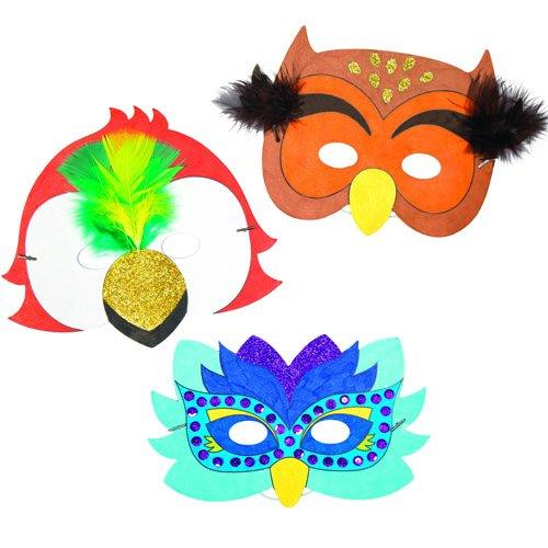 Amazon.com: Bird Color-in Máscaras para que los niños diseño ...