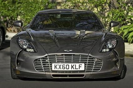 Amazon Com Aston Martin Grey One 77 Front Hd Poster Super Car 18 X