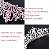Didder Silver Tiaras and Crowns for Women, Pink