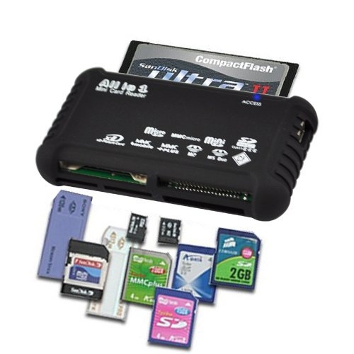 SODIAL(TM) High Speed All-in-1 USB Card Reader for all Digital Memory Cards