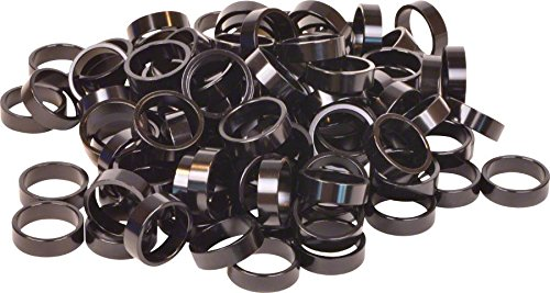 Wheels Manufacturing Bulk Headset Spacers 1-1/8 x 10mm Black Bag of 100 by Wheels Manufacturing (Image #1)