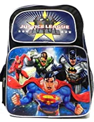 Justice League Backpack with Lunch Box -- Deluxe Backpack with Insulated Lunch Kit (Featuring Batman, Superman...