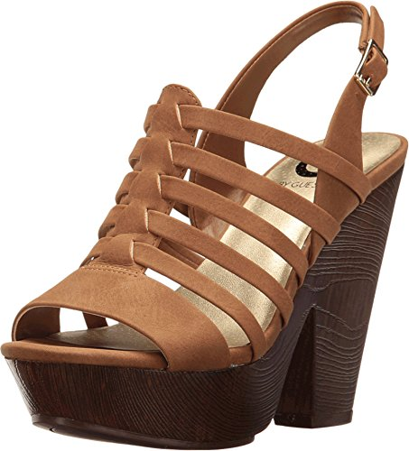 G by GUESS Women's Seany Honeyglaze Sandal