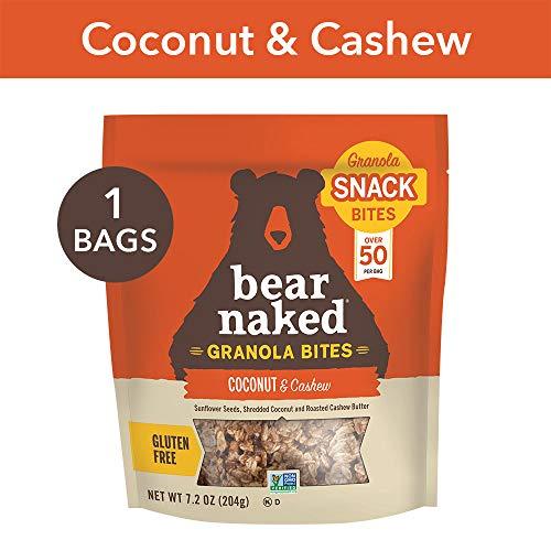 Bear Naked Coconut Cashew Granola Bites - Gluten Free | Non-GMO | Kosher | Vegan - 7.2 Oz