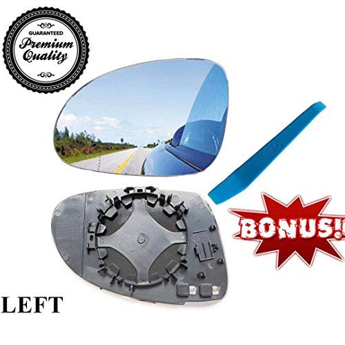 Vw Heater - Outside Mirror Glass, for VW Eos, GTI, Jetta, Passat, R32 - GLASS with Heater and Holder,Left