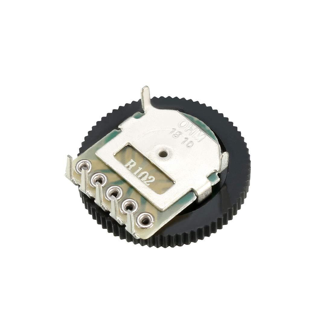 sourcing map B102 1K Ohm Vorwahlknopf Volumen Rad f/ür Duplex Potentiometer 16x2mm