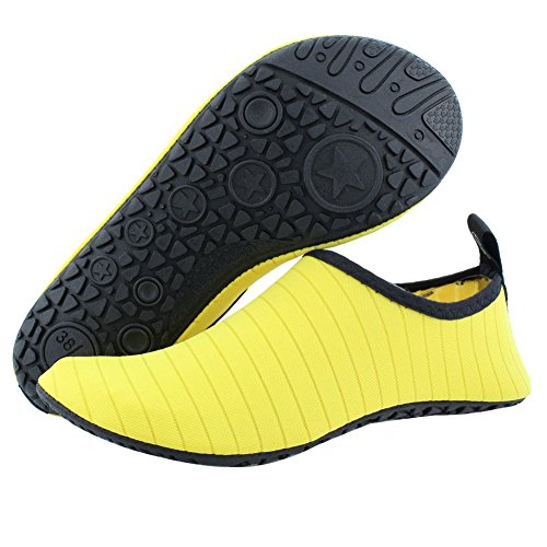 Dry SENFI Men Beach Camp Sport Lightweight Quick Shoes Water 03yellow Women Water Pool Kids qq1SFRanWE
