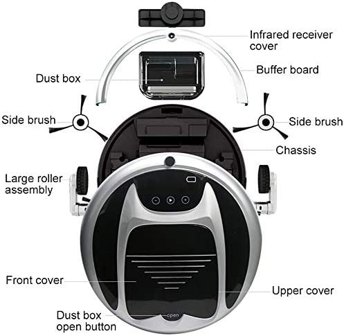 Robot Aspirateur et Mop, Bonne FD-3RSW (IB) CS 800Pa aspiration intelligente de ménage Aspirateur Robot Nettoyer avec télécommande, Pour planchers durs et tapis