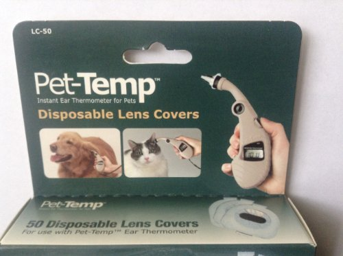 Pet Temp Disposable Lens Covers 50ct Ear Thermometer Cover Pets