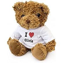 NEW - I LOVE OLIVIA - Teddy Bear - Cute And Cuddly - Gift Present Birthday Xmas Valentine
