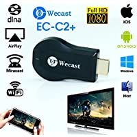 Wecast C2+ Dongle, WOPOW Full HD 1080P WiFi Wireless Display Receiver Dongle HDMI TV Mini DLNA Airplay Airmirroring for Android,IOS, HDTV Smart Phones Notebook Tablet PC