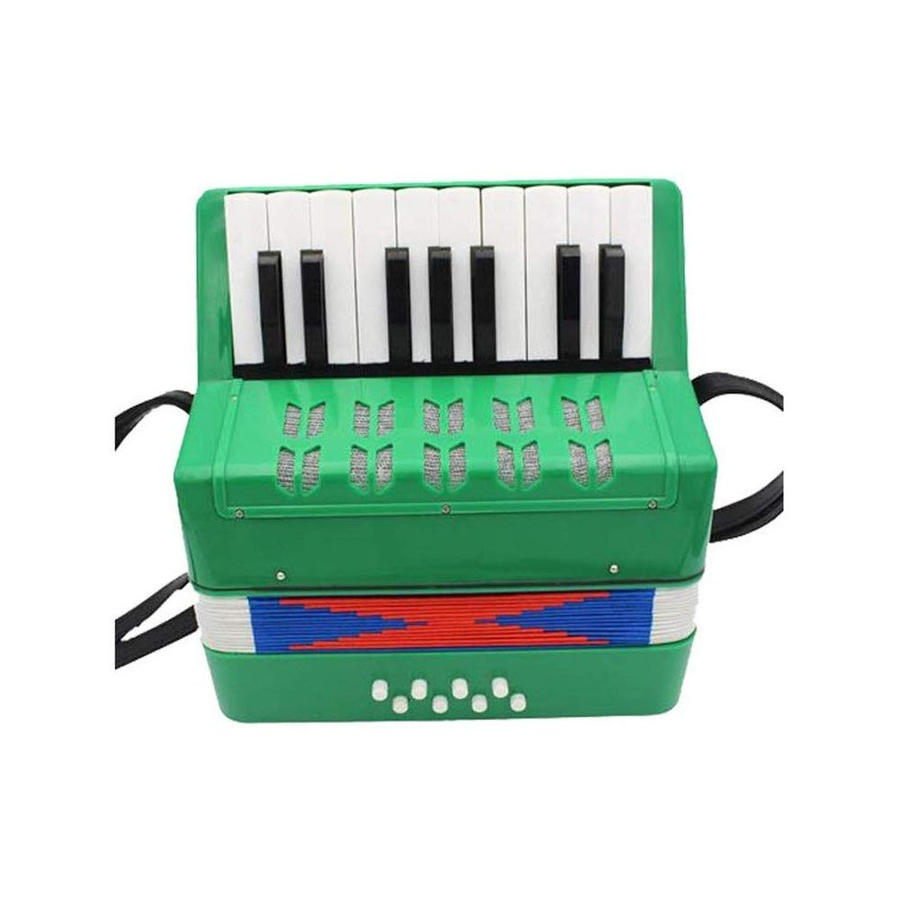 KJRJGQ Piano Children's Accordion Early Learning Musical Instrument Beginner 17 Keys 8 Bass Parenting Toys Mini Accordion Multicolor Optional ( Color : Green ) by KJRJGQ