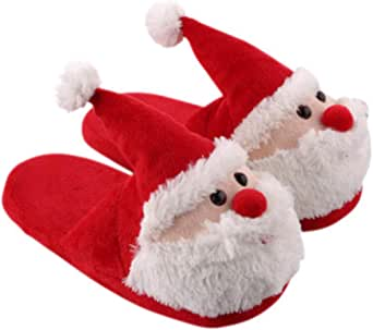 KESYOO Zapatillas para Niños para Niños Niñas de Papá Noel Regalo para Adultos Y Niños Talla 35-36