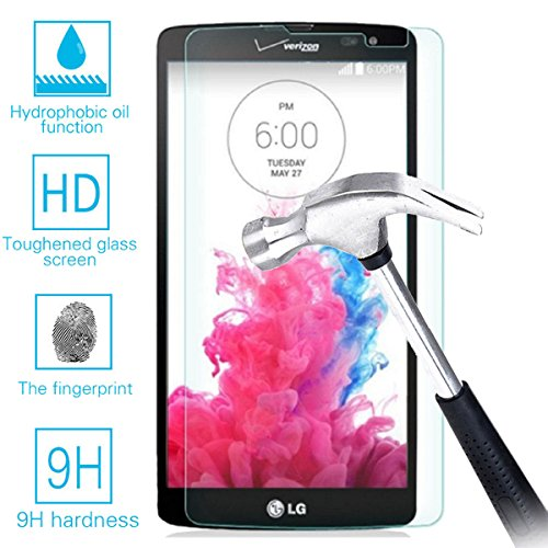 LG G Vista VS880 Real Tempered Glass Screen Protector Guard,Bubble-free Anti-Scratch Ultra Clear 9H Premium Tempered Glass 0.26mm HD Screen Protector Film for LG G Vista VS880 (Lg G Vista Screen Protector compare prices)