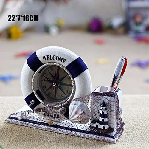 Imoerjia Wall Clock Desk Decorative Life Preserver Clock