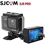 "SJCAM SJ8 Pro 4K 60fps Sport Action Camera Ambarella H22 S85 SONY IMX377 Wi-Fi Sports Cam Underwater Camcorder 12MP 30M Waterproof with High-clarity Digital Zoom 2.33"" Dual Touch Screen (Black)"