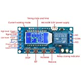 Time Delay Relay, DROK 5V 12V 24V Delay Controller Board Delay-off Cycle Timer 0.01s-9999mins Trigger Delay Switching Relay Module with LCD Display Support Micro USB 5V Power Supply