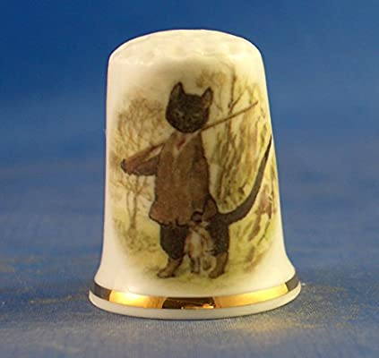 Beatrix Potter Kitty in Boots with Free Gift Box Porcelain China Collectable Thimble