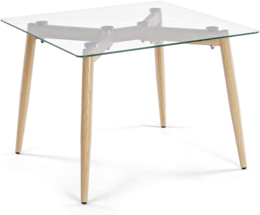 ARREDinITALY – Mesa diseño Plano Cristal Cuadrada 60 X 60: Amazon ...