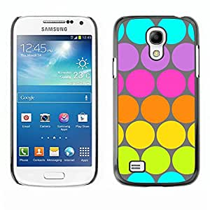 For Samsung Galaxy S4 Mini i9190 MINI VERSION!,S-type® Dot Pattern Blue Lime Green Colorful - Arte & diseño plástico duro Fundas Cover Cubre Hard Case Cover