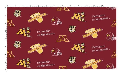 University of Minnesota Fine Cotton Classic Colored Ground (Minnesota Classic Blanket)