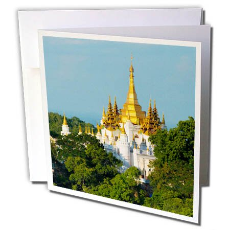 3dRose Danita Delimont - Travel - Pagoda on Sagaing Hill, Mandalay, Myanmar - 12 Greeting Cards with envelopes (gc_276707_2) by 3dRose (Image #1)