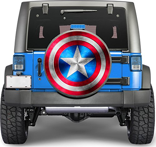 Captain America Sticker Full Color Spare Tire Cover Decal, Sticker Wheel Cover gc2241