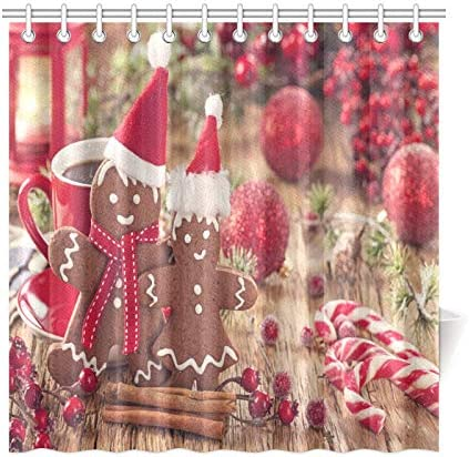 LORRAINE HOME FASHIONS Holiday Mischief Shower Curtain 70 x 72