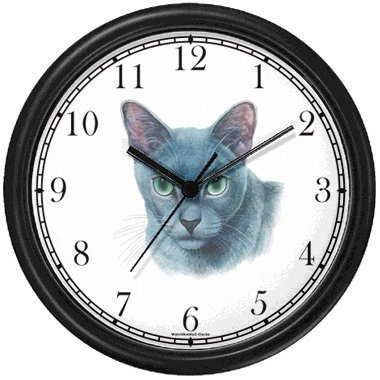 Blue Burmese Cat - JP - Wall Clock by WatchBuddy Timepieces (White Frame)