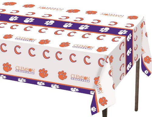 (Creative Converting Clemson Tigers Plastic Table Cover, 54