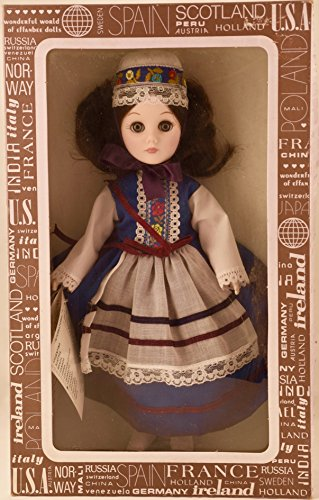 Corp - Item #1102 - International Series - France 11 inch Vinyl Doll - Traditional Dress - OOP - New - Rare - Collectible (Effanbee Vinyl Doll)