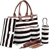 Diaper Bag - Machine Washable Designer Purse - Diaper Bag For Girls - Baby Shower Gifts - With Changing Pad - Bottle Holder - Stroller Straps