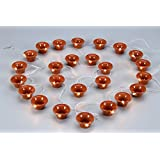 A2Z Traders Plastic 25 Diyas Light String Series Light with Hand Shape LED Keychain (Brown)