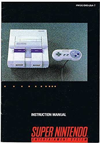 instruction manual for super nintendo entertainment system nintendo rh amazon com Nintendo GameCube Nintendo DS