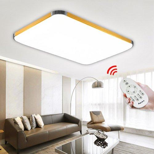 Hengda® 96W LED Dimmbar Deckenlampe 2700-6500K Leuchte 960-8640LM Deckenleuchte 925*650*110MM IP44 Badezimmer geeignet Lampe