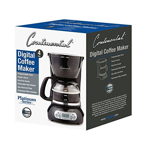 CE North America CP43929 4-Cup Digital Coffee Maker-BLK by CE North America (Image #4)