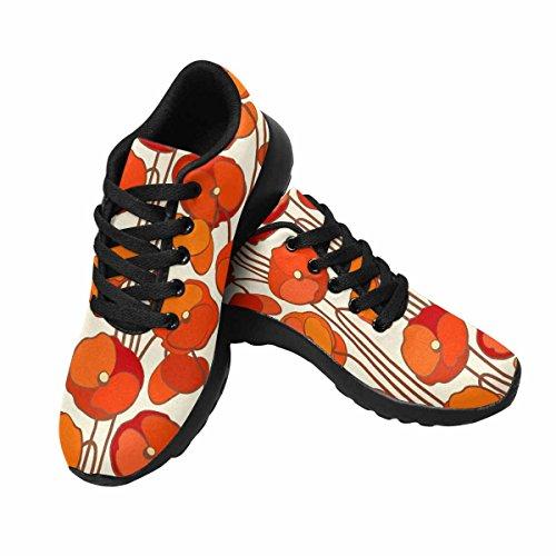 Interesse Per Le Donne Jogging Running Sneaker Leggero Andare A Piedi Comodi Sport Scarpe Da Corsa Papaveri Multi 1