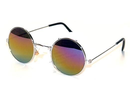 Tedd Haze 60's John Lennon Brille gold rainbow mit Brillen Beutel TWzPwpelpA