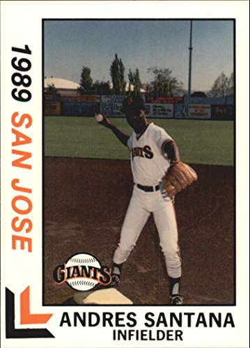 1989 San Jose Giants Best #1 Andres Santana - - Santana Jose San