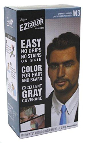 Bigen Ez Color For Men, Real Darkest Brown 1 ea (Pack of 3) (Best Colors For Brown Skin Men)