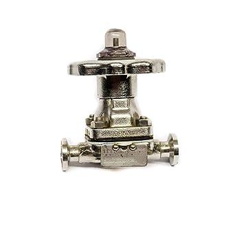 Válvula de diafragma de acero inoxidable ITT .5