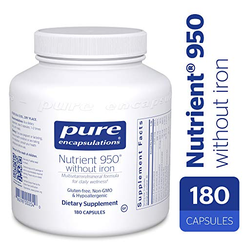 Pure Encapsulations - Nutrient 950 Without Iron - Hypoallergenic Multi-Vitamin/Mineral Formula for Optimal Health* - 180 - Mineral Capsules 180 Multi