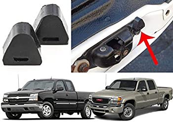 Compatible with(2) Rubber Tailgate Bumpers for 1999-2006 Silverado Sierra New