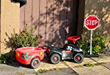 AOFOTO 8x6ft Childhood Baby Car Backdrop Street Children Toy Car Photography Background Kindergarten Driving Traffic Safety Stop Sign Outside Road Security Kid Play Game Roadblock Photo Studio Props