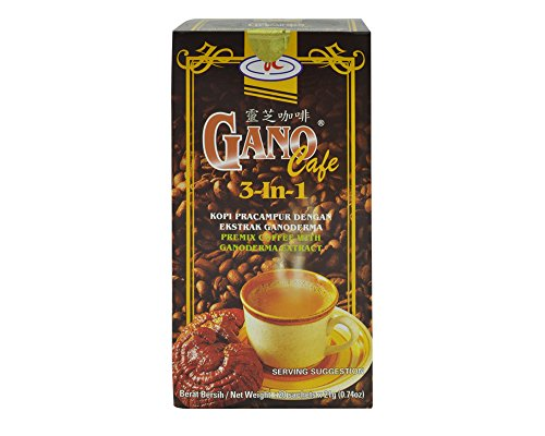 Instant Coffee l Ganoderma coffee - Instant coffee 3-in-1 is instant coffee packets with Ganoderma l 1 box of 20 sachets - Similar to Latte