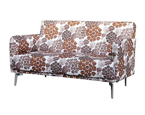US Pride Furniture S5072 Pattern Print Fabric Modern Loveseat, Brown